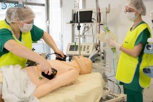 Réanimation cardiaque du mannequin par l'ERSS